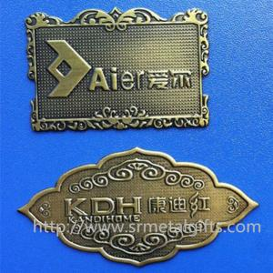 China Custom made antique brass name plate sign plaques, China wholesale prices small quantity, on sale