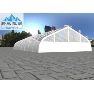 China 20x40m White PVC Curve Clear Aluminum Frame Tent For Wedding 500 People Seater Wind Resistant on sale