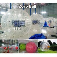 White Plastic Inflatable Zorb Ball High Soundness Strong Load - Bearing Capacity