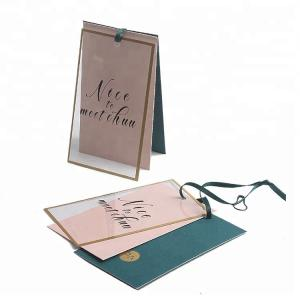 China Gold Foil Border Custom Folded Hang Tags , Custom Price Tags For Clothing / Gifts on sale