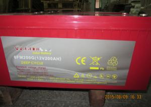 Quality 12 Volt Solar Lead Acid Battery 200ah Long Life For Off Grid Power for sale
