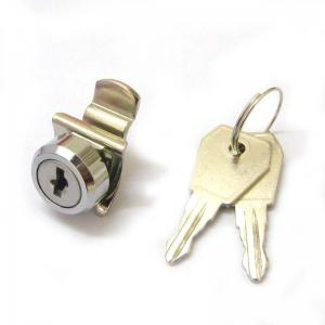 China Flat Key Cam lock With Clip for POS Cash Drawer Lock with Key Aliked Key on sale