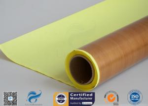 China Self-Adhesive Tapes Brown PTFE Coated Fiberglass Fabric Sticker 1000mm Width 50 meter on sale