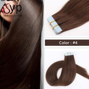 China Professional Remy Tape In Hair Extensions Afro Hair Weave Straight Natural Color on sale