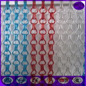 China Hanging Double Hooks aluminum Striple Chain Fly Screen For Door Curtain on sale