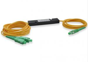 China Single Mode Fiber Optic PLC Splitter 1 * 2 0.9mm Fiber Length Low Insertion Loss on sale
