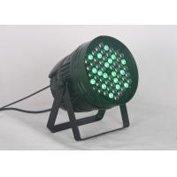 China 192w LED Par Can Lights R12 \ G18 \ B18 \ W6 \ A6  DMX 512 5 / 9 Channel on sale