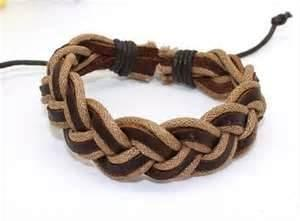 China Mens braided rope leather bracelet, sailor rope bracelets for Jewelry bracelet connector on sale