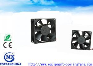 China 3.6 Inch 92 MM Portable Small DC Brushless Fan , High Temp Exhaust Motor For Cabinet Chassis on sale
