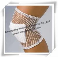 China White Medical Bandage , Stretch Net Tubular Elastic Bandage For Injured Knee / Leg on sale