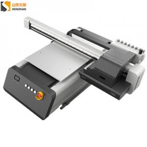 China HONZHAN HZ-UV6090 Digital UV Led Flatbed Printer 600x900mm with Three Epson TX800 Print heads on sale