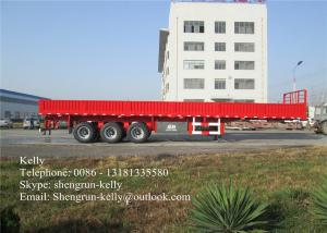 China 3 axles platform side wall open tailgate semi trailer with panel on sale
