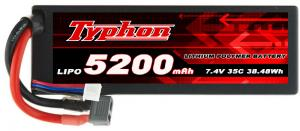 China TYPHON POWER 5200mAh 7.4V 35C 2S1P HardCase Lipo Battery supplier