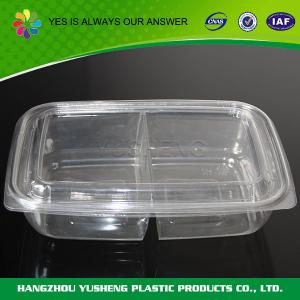 China PET / BOPS disposable hard plastic salad containers Different shapes on sale