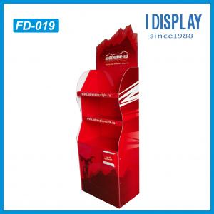 China Corrugated paper cardboard Floor display stand for products promotion on sale