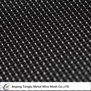 China Mild Steel Wire Mesh Square Hole Woven Mesh Known as Black Cloth on sale