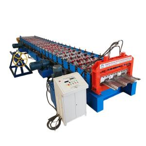 China Metal Floor Deck  Roll Forming Machine PLC Control on sale
