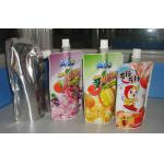 PET / AL / PE Custom Printed Spout Pouches for Packaging Juice / Jam/Soymilk