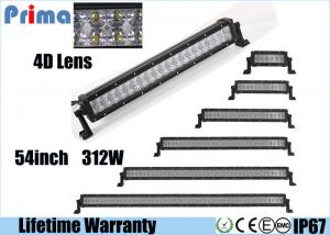 China Offroad 54 Inch Curved LED Light Bar 312 Watt Super Bright 4D Optical Lens on sale