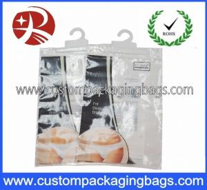 China Transparent Plastic Hanger Bags personalized For Underwear on sale