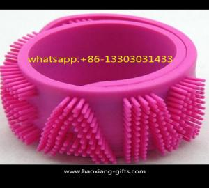 China Wholesale 1inch as your design Colourful Split Silicone slap wristband/bracelet on sale