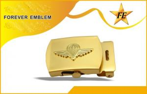 China Two-Piece Bronze Metal Belt Buckles Two-Tone Plating For Awards on sale