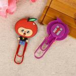 Customized Promotional Rubber Items Gift / Cute Small Colored Paper Clips