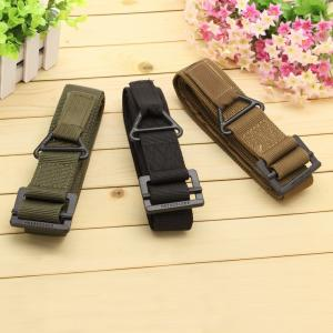 China 2015 fashion 48 Canvas Military Tactical Belts Black Slider Buckle 3 Colors belts for men on sale