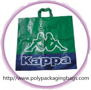 China Environmental Friendly Green Recycled Plastic Handle Bag For Shopping on sale
