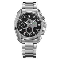 lwholesaler stainless steel back water resistant watch geniue waterproof wristwatch