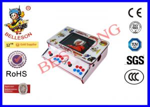 China White Mini Arcade Cabinet , Arcade Multi Game Machine With Stereo Speakers on sale