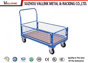China Four Wheel Folding Hand Truck Trolley For Hotel , Metal Hand Cart on sale