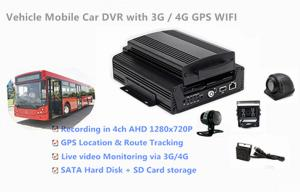 China 1TB HDD Support 4 Channels 720P AHD Cameras Car DVR Recorder 3G / 4G GPS WIFI on sale