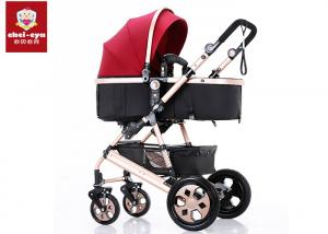 China Easy Rotate Baby Travel Stroller , Foldable Baby Born Pushchair With PU Wheels on sale