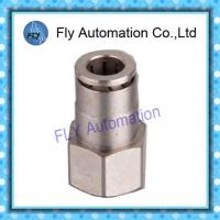 China Pneumatic Tube Fittings Straight thread nickel-plated brass push-in fittings PCF series on sale