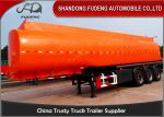 China Flammable Fuel Tanker Truck 25000 L , Fuel Tank Trailer  With 3 Compartments wholesale