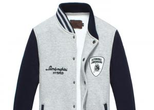 China Fashion Cotton Mens Baseball Jackets , Men's Spring Coats Custom Printed on sale