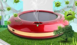 China solar powered air purifier mini car air purifier HDJHQ Red color on sale
