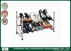 China Customized metal shoe display racks shelf storage unit two layer , Power coated on sale