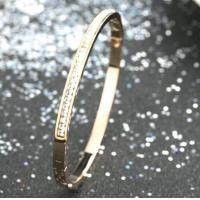 2018 gold bangles latest designs,slim diamonds stainless steel bangle bracelet