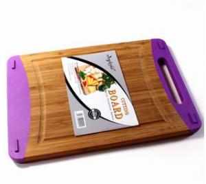 China Good quality bamboo and silicone cutting board on sale