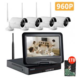 960P WiFi CCTV Camera Kit , 4 Camera Wireless Security System Easy Install