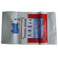 Laminated Bopp Pp Woven Sacks , Woven Pp Rice Bags Gravure Printing
