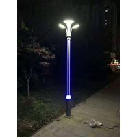 LED garden light double dual arm ceramic base aluminum ornament reflector cover electrostatic painting hot galvanized