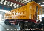China 70 - 80 Tons Side dumping trailer with JOST 3 . 5 inch traction pin with Hyva lifting cylinder wholesale