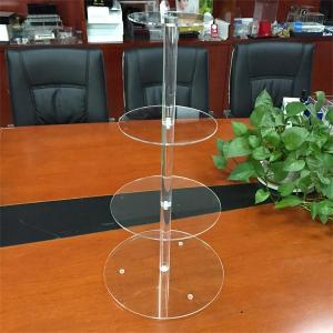 China 4 tiers acrylic wedding cake display rack on sale