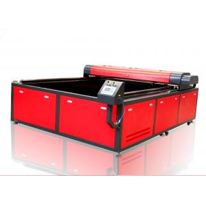 China Printed Textile Fabric Laser Cutting Machine , Vision High Speed 300w Laser Cutter on sale