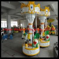 3seats  carousel merry go round mini kids ride electric fiberglass amusement park carousel horses