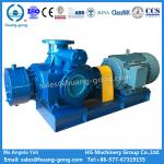Marine or land use carbon steel twin screw pump for hot oil and bitumen transfer