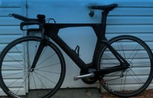 Quality Di2 Aerodynamic Carbon TT Bike Frame For 700c Wheelset 45cm , 49cm, 52cm,54cm, for sale